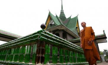 El Templo del Millón de Botellas: reciclaje útil con Heineken