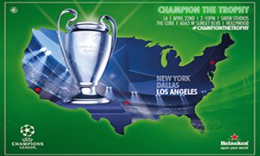 Morientes, Salgado y la Copa de Europa visitan L.A. con el Trophy Tour